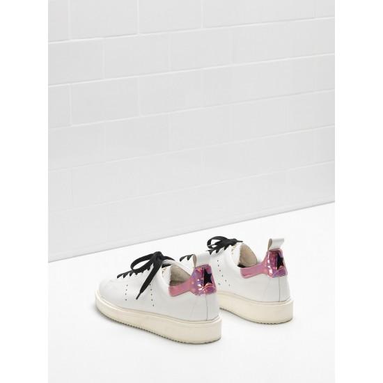Women's Golden Goose starter sneakers upper in iridescent material