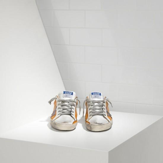 Men's/Women's Golden Goose sneakers superstar in beige white violet