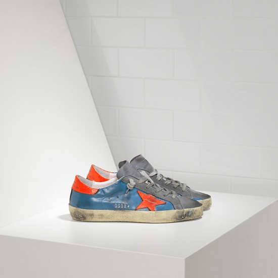 Men's/Women's Golden Goose sneakers superstar in fluo sky red fluo star