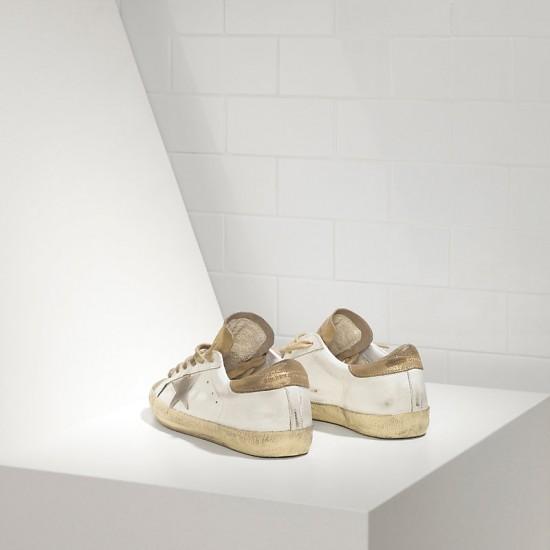 Men's/Women's Golden Goose sneakers superstar in gold white suede star