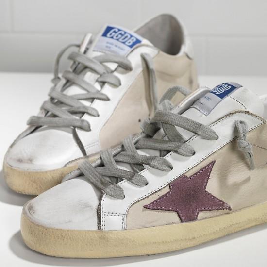 Men's/Women's Golden Goose sneakers superstar in milk white lilac star