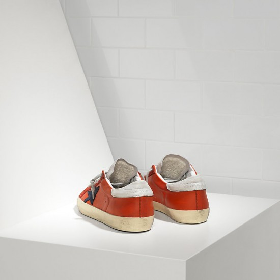Men's/Women's Golden Goose sneakers superstar in red leather white sude