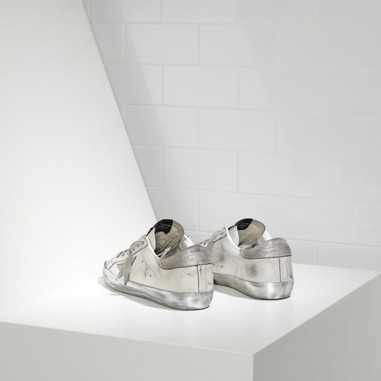 Men's/Women's Golden Goose sneakers superstar in sparkle white silver