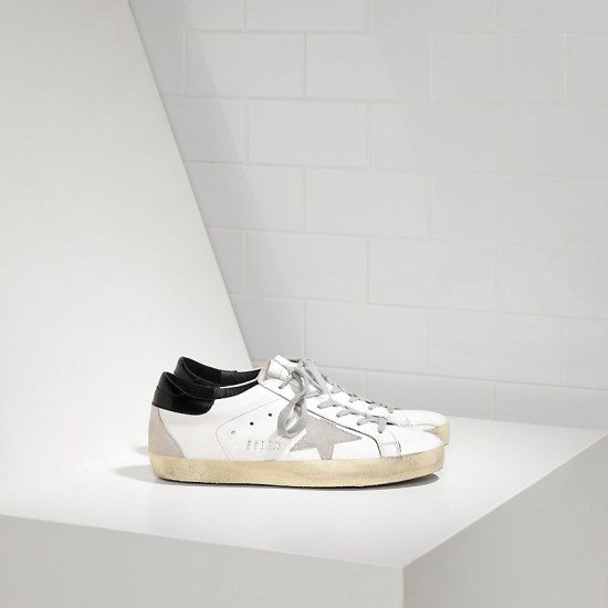 Men's Golden Goose sneakers superstar in white black cream black