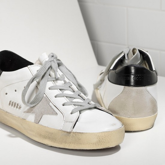 Men's Golden Goose sneakers superstar in white black cream black