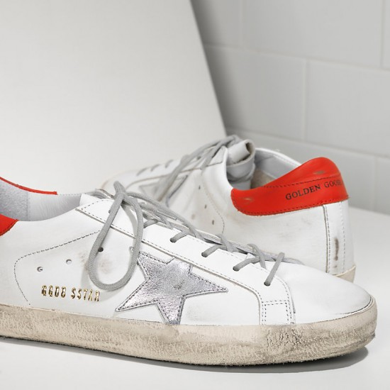Men's/Women's Golden Goose sneakers superstar in white leather red