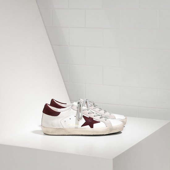 Men's/Women's Golden Goose sneakers superstar in white purple suede