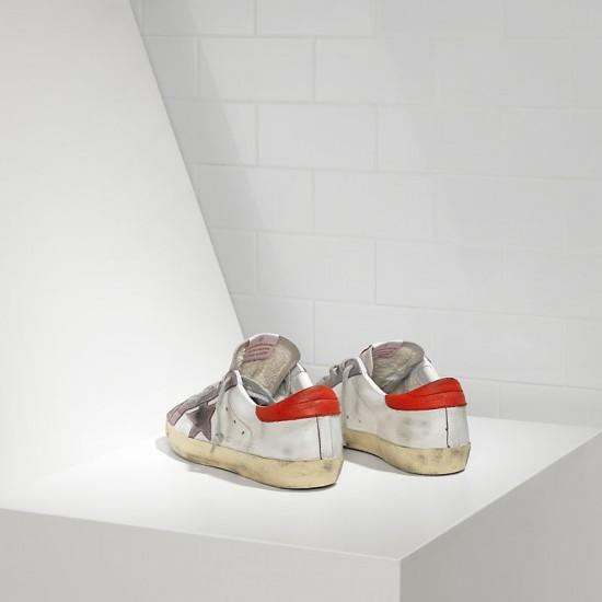 Men's/Women's Golden Goose sneakers superstar in white red violet star