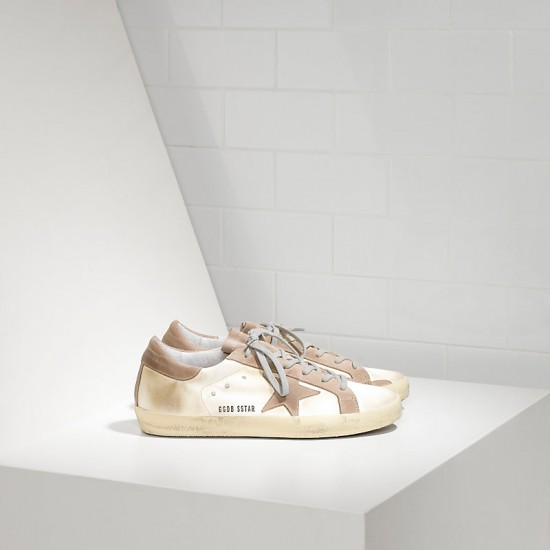 Men's Golden Goose sneakers superstar in white satin
