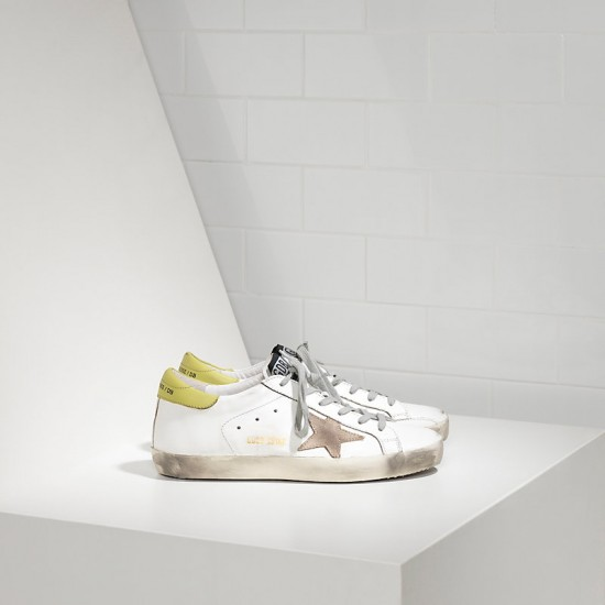 Men's/Women's Golden Goose sneakers superstar in white wasabi