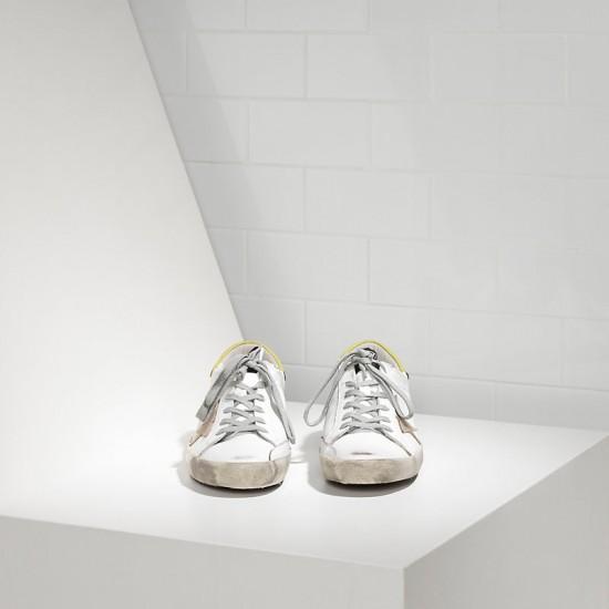 Men's/Women's Golden Goose sneakers superstar in white wasabi