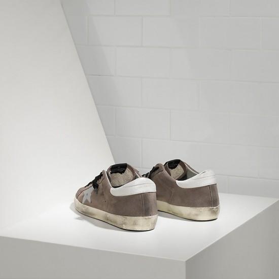 Men's/Women's Golden Goose sneakers superstar in mid grey suede white