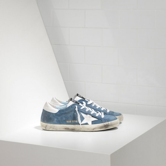 Men's/Women's Golden Goose sneakers superstar leather in suede white star