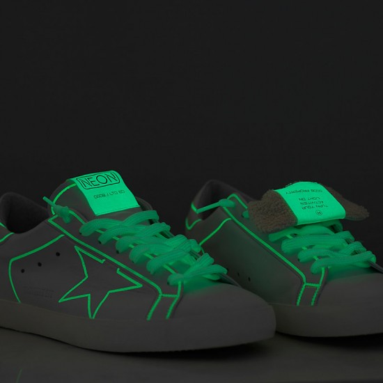 Men's/Women's Golden Goose sneakers superstar neon fluorescente neon