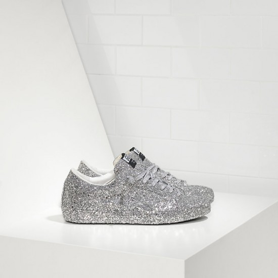 Men's/Women's Golden Goose sneakers superstar ricoperta silver glitter