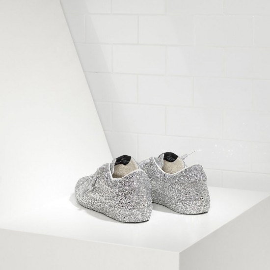 Men's/Women's Golden Goose sneakers superstar ricoperta silver glitter