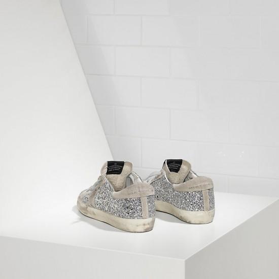 Men's/Women's Golden Goose sneakers superstar shiny silver moon