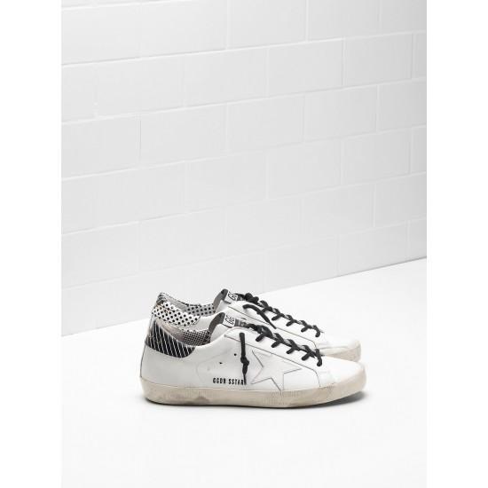 Men's/Women's Golden Goose superstar sneakers calf leather stripe spots