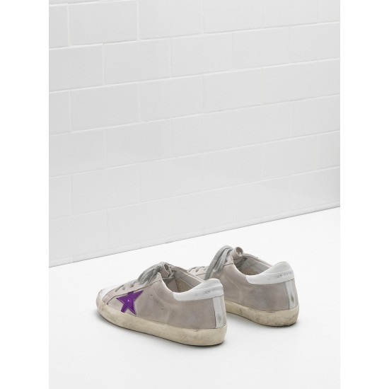 Men's/Women's Golden Goose superstar sneakers calf suede in worn effect leather
