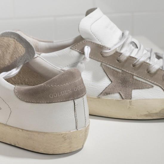 Men's/Women's Golden Goose superstar sneakers suede star white