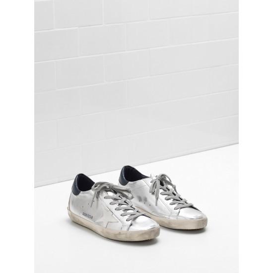 Men's/Women's Golden Goose superstar sneakers in metallic goatskin leather star