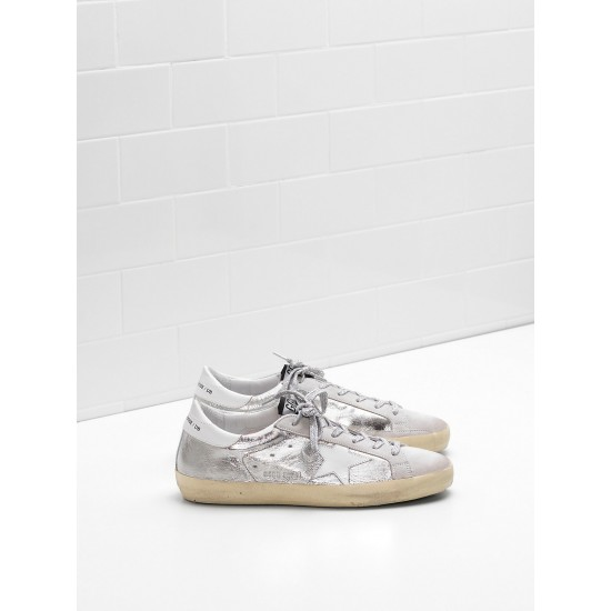Men's/Women's Golden Goose superstar sneakers laminated fabric wrinkled effect