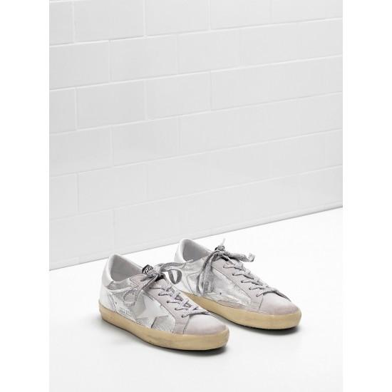 Men's/Women's Golden Goose superstar sneakers laminated fabric wrinkled effect