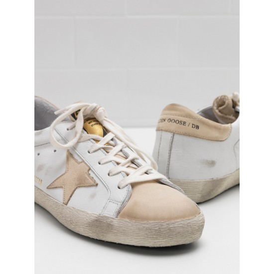 Men's/Women's Golden Goose superstar sneakers leather star in leather khaki