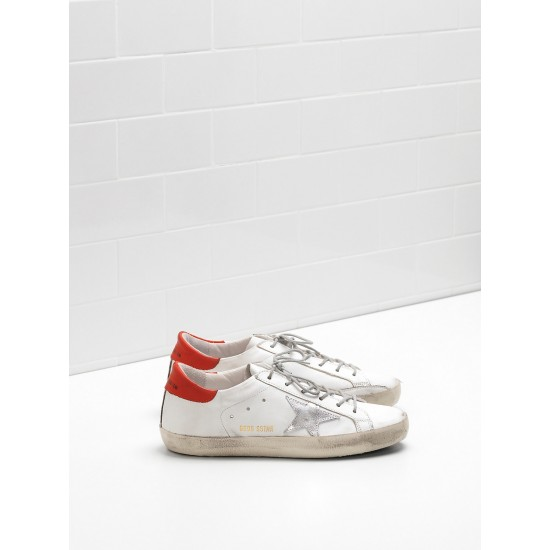 Men's/Women's Golden Goose superstar sneakers leather star in rubber sole