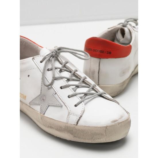 Men's/Women's Golden Goose superstar sneakers leather star in rubber sole