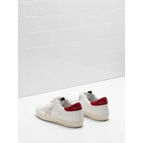 Men's/Women's Golden Goose superstar sneakers leather star in white