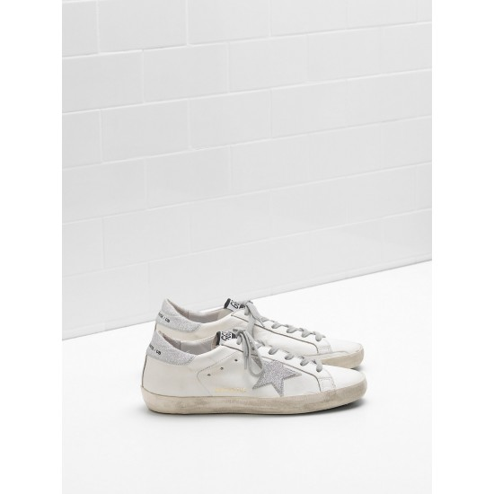 Men's/Women's Golden Goose superstar sneakers leather star with glitter
