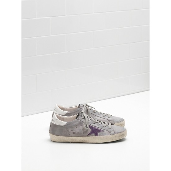 Men's/Women's Golden Goose superstar sneakers suede lightly coated in glitter