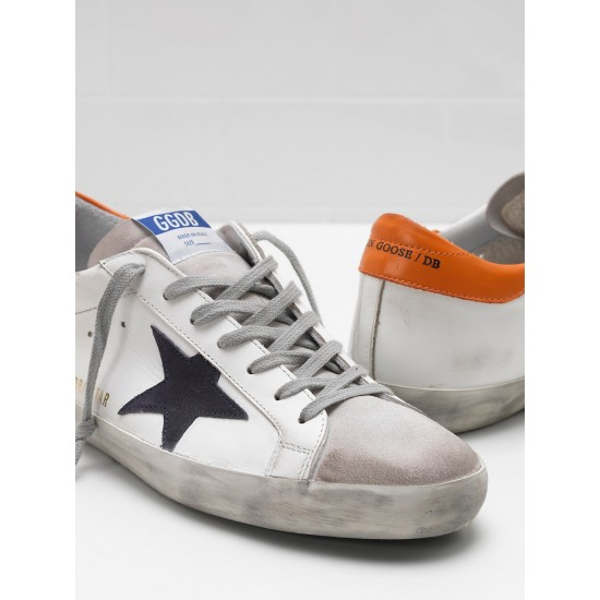 Men's Golden Goose superstar sneakers leather suede star balck star