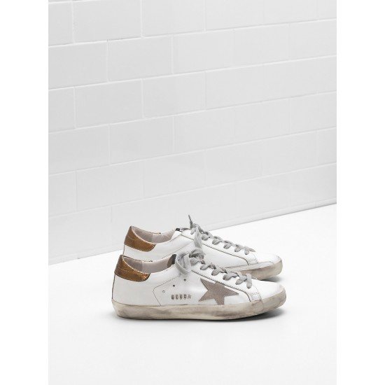 Men's/Women's Golden Goose superstar sneakers leather suede star in laminated