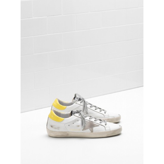 Men's/Women's Golden Goose superstar sneakers leather suede star yellow white