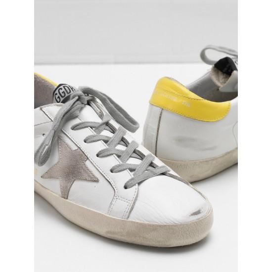 Men's/Women's Golden Goose superstar sneakers leather suede star yellow white