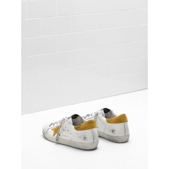 Men's/Women's Golden Goose superstar sneakers leather suede yellow star