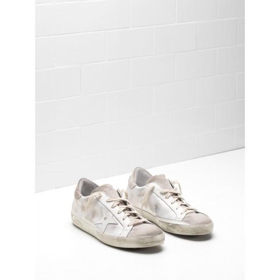 Men's/Women's Golden Goose superstar sneakers skin leather coated in silk