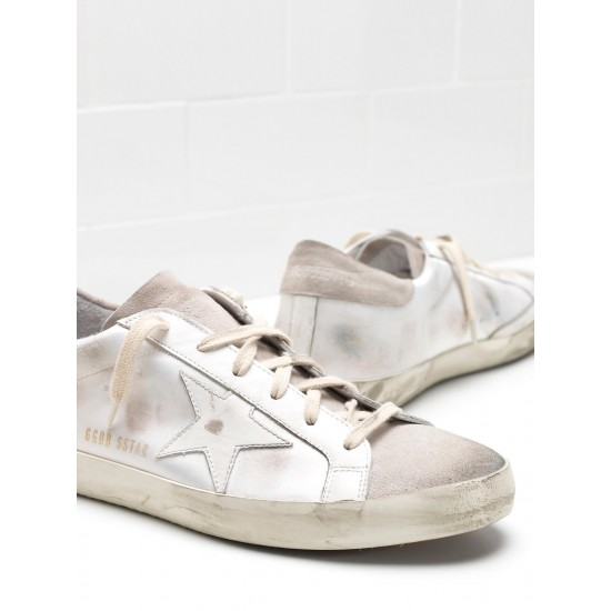 Men's/Women's Golden Goose superstar sneakers skin leather coated in silk