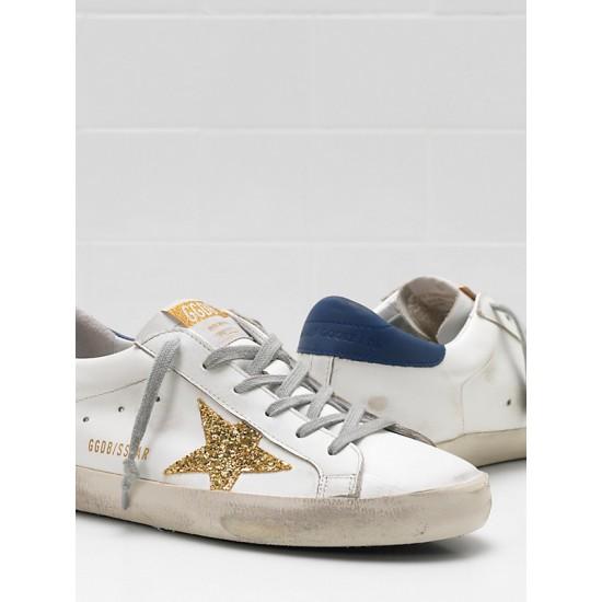 Men's/Women's Golden Goose superstar upper glitter coated star leather