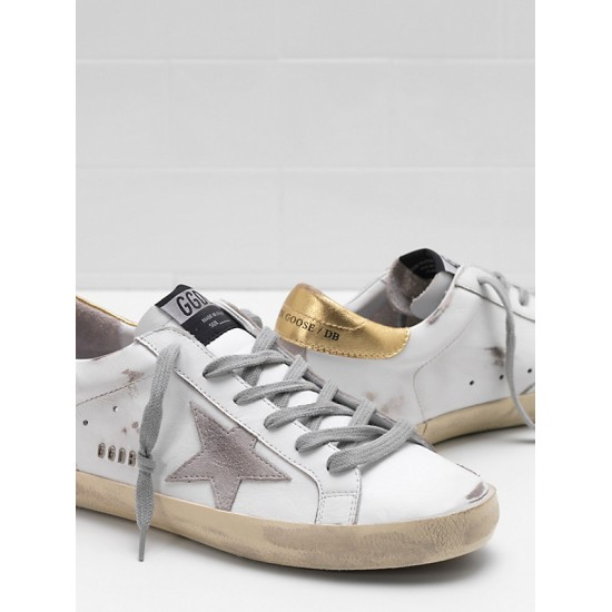 Men's/Women's Golden Goose superstar upper suede star embossed logo lettering