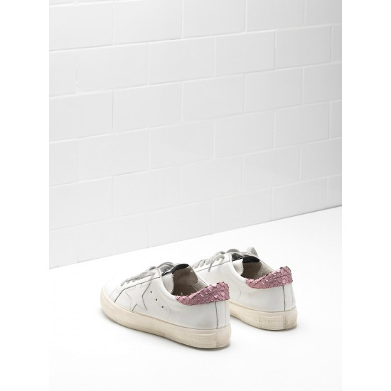Women's Golden Goose may sneakers in pink white star logo