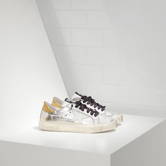 Women's Golden Goose sneakers may in silver gold white star