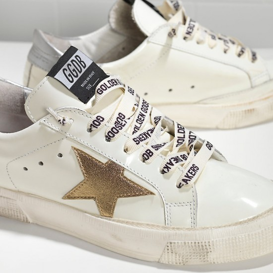 Women's Golden Goose sneakers may in white silver gold
