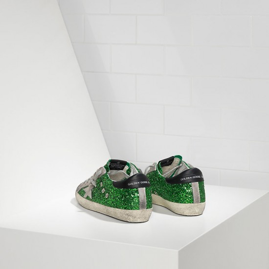 Women's Golden Goose sneakers superstar emerald green glitte
