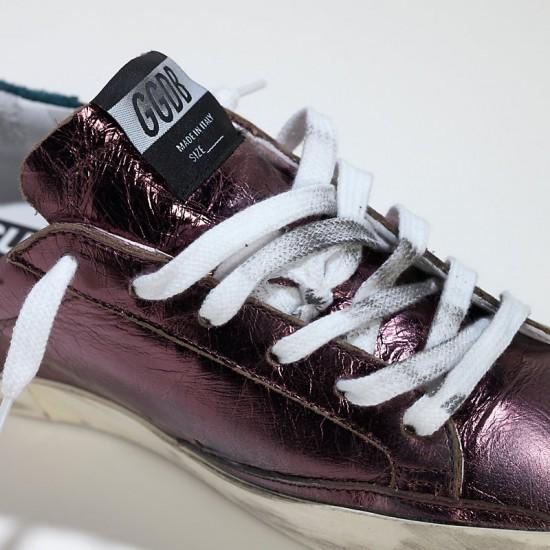 Women's Golden Goose sneakers superstar in Metal purple
