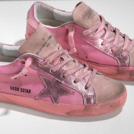Women's Golden Goose sneakers superstar in monochromatic pink