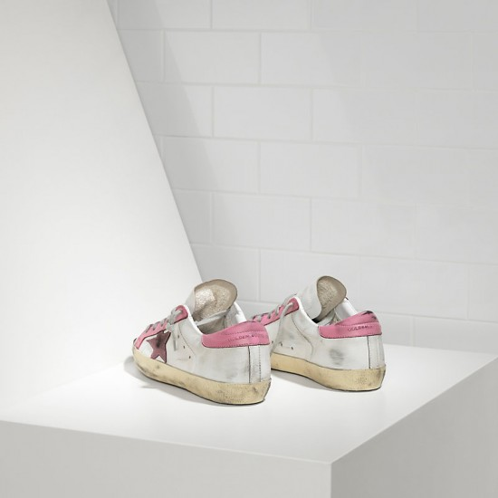 Women's Golden Goose sneakers superstar in white pink star