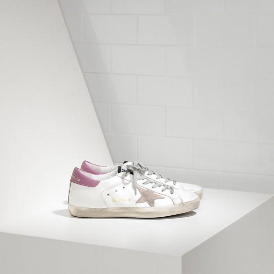 Women's Golden Goose sneakers superstar in white purple